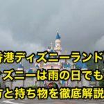 香港ディズニーは雨の日でも大丈夫!楽しみ方と持ち物を徹底解説!
